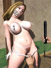 Horny 3D Chick gets Goblin and gets off