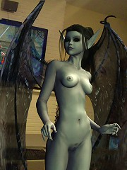 3D Elf Princess shows her body and loves Goblin