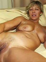 Granny craves a threesome and the young guys give her a bunch of hot cock meat