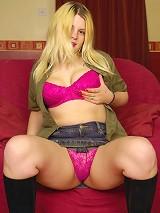 Beautiful chubby blonde
