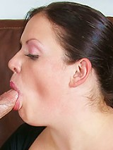 Chubby beginner model picked up and rammed with thick dripping shaft