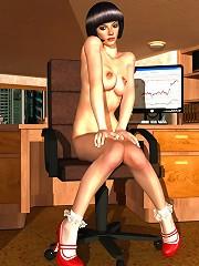 Cute 3D Fantasy Heroine getting captured
