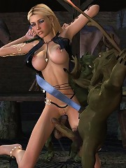 3D Babe screwed by pierced dick