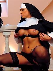 Catholic School Girls Disciplined By Sexy Nun In Amazing Bdsm Femdom Scene
