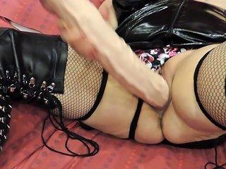 Kinky Boots Dildo Play
