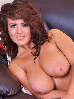 Robyn Alexandra strips to show off her massive perky boobies