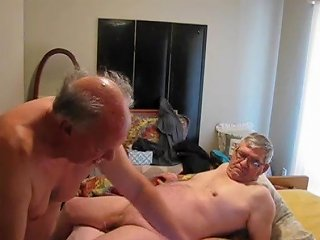 Two Old Guys Playing In Bed