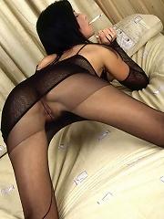 Smoking Hot Brunette Rips Off Black Pantyhose To Touch Herself^leg Action Nylon Porn Sex Girl Nylon Pantyhose Stockings Woman
