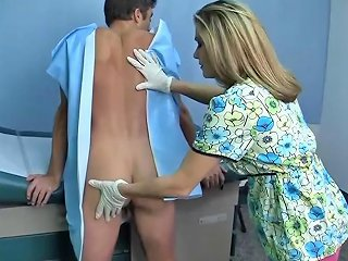 Allura Skye Enjoys Milking A Patient During The Prostate Exam Sunporno Uncensored