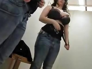 Extremely Sexy German Amateur Masturbating Changing Room