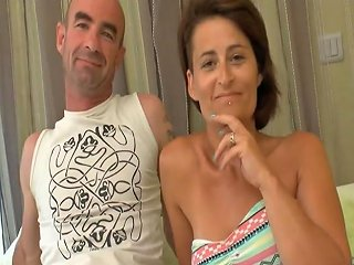 Busty Amateur French Wife Dp And Cum Covered In A
