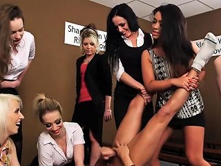 Mean Cfnm Babes Tugging Dudes Small Dick