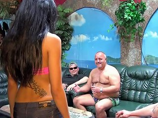 German Amateur Young Skinny Teen First Time Gangbang With Old Man