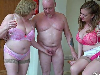 Two Perverted Old Housewives Bangs One Dude Living Nextdoor Anysex Com Video