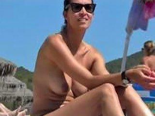 Btb 03 372m Incredible Spanish Brunette Topless Beach Ibiza