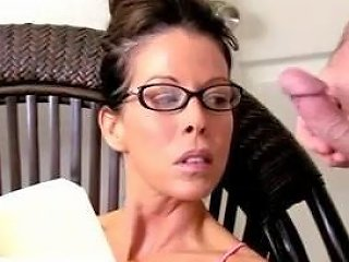 Wanking And Cumming Over Milf With Glasses Free Porn 40