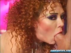 free cum video Slutty redhead milf enjoys...