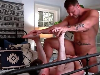 Teen Gets Pounded Bareback By Muscle Stud