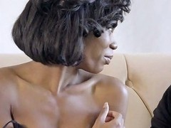 Quite Buxom Ebony Beauty Ivy Logan Is So Into Riding Strong Cock