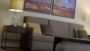 Woman Flashes Room Service Guy