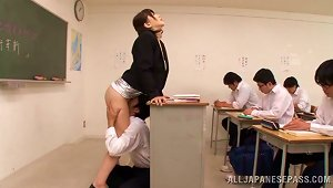 Anri Okita The Adorable Teacher Gets Toyed And Licked