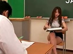 Busty Teacher Stripping