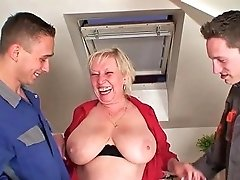 Busty Blonde Granny Gets Double Fucked Porn 41 Xhamster