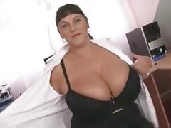 Big Titted Office British Whore Dildo Fucking Slut