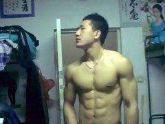 Bunch of muscular Asian boy expose their cocks to the camera