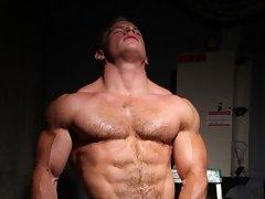 Ben Kieren Hairy Hard Cock Muscle Stud