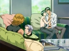 Cute gay hentai couples switching partners
