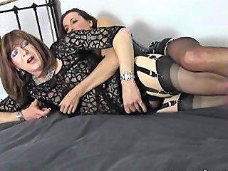 Femdom Strapon Jane Fucks Crossdresser Sluts Tight Ass From Behind