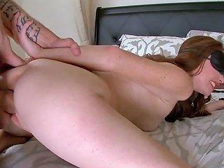 Blindfolded Slut Kassondra Raine Gets Fucked Raw And Hard