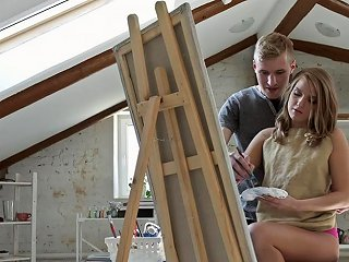 Artistic Girl Finds Inspiration In Having Her Narrow Assh Any Porn