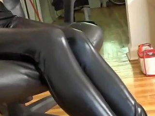 Bound And Gagged Drooling Leather Leggings Hottie Porn 96