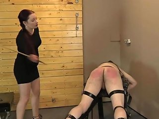 Spanked Painful Mix Of Caning Paddling And Whipping