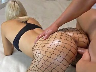 Creampie For Amateur Blonde In Fishnets Porn 44 Xhamster