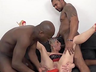 Mature Gets Black Cocks In Her Pussy And Mouth Likes