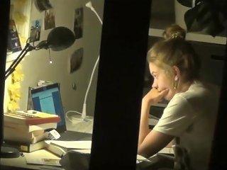 Spy Cute Teen With Hidden Cam Masturbation After Homework