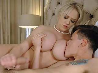 Busty Mother Asks Son For Help