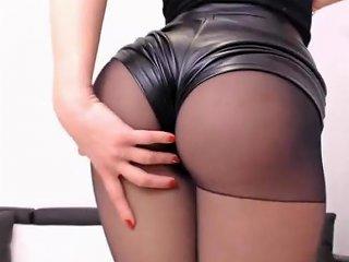 Black Leather And Pantyhose Free Black Pantyhose Hd Porn 04