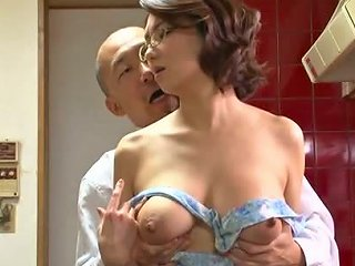 Big Titted Mature In Glasses Sucks An Old Guy's Dick