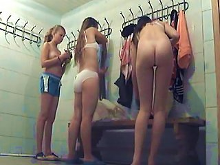 Sweet Babes Are Getting Naked In The Dressing Room