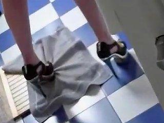 Nice Voyeur View Of Girl Undressing Before Her Shower