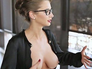 Emily Agnes Shows Her Big Fake Tits And Pussy In Backstage Video