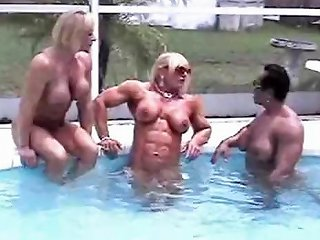 Muscular Maidens Do Some Sexy Car Washing And Lounging By Nuvid