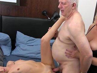 B Grandpa Threesome