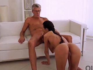 Old4k Nice Secretary Liliane Cant Wait To Taste Old Boss Dick