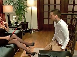 Redhead Mistress Punished A Kinky Guy