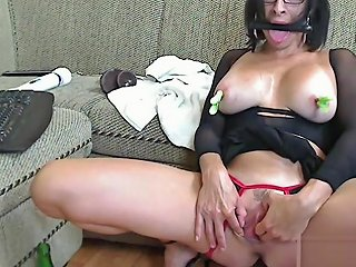 Livecam Obedience With Bit Gag And Glass Bottle Kinkyfrenchies Txxx Com